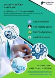 Protein Expression Market Analysis, Size, Share, Growth, Trends, And Forecasts (2017 To 2022)