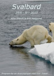 Program Svalbard 2013.pdf - DOF Travel