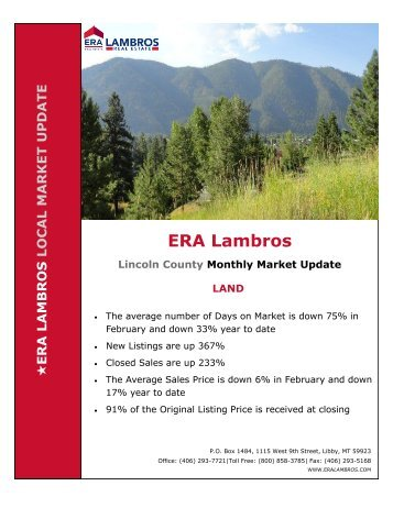 Lincoln County  Land Market Update - February 2018