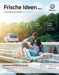 VW Autohaus Ruprecht - Frische Ideen...