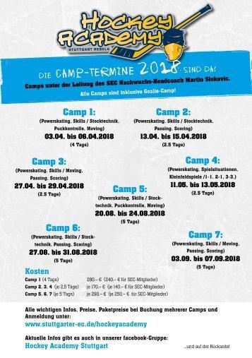Hockey Academy Stuttgart Camp Termine 2018