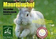 Mauritiushof Naturmagazin  März 2018
