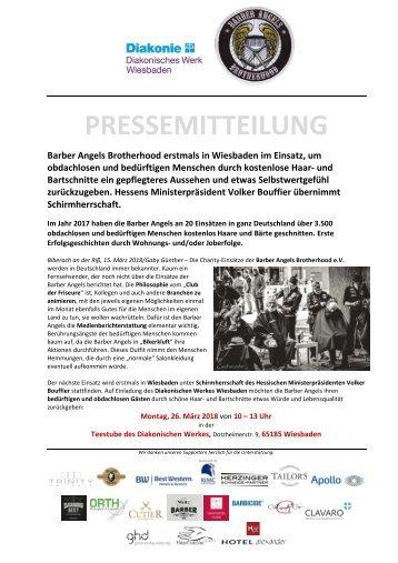 Barber Angels erstmals in Wiesbaden am 26. März 2018