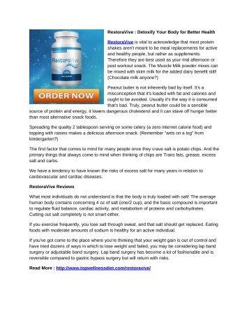 RestoraVive : Detoxify Your Body for Better Health