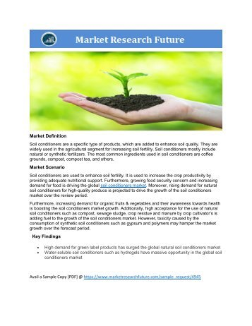 Soil Conditioners Market Research Report