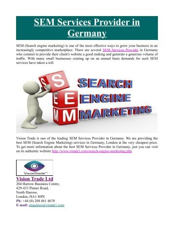 SEM Services Provider in Germany