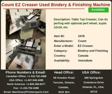 Buy Used Count EZ Creaser Bindery and Finishing Machine