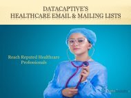 Healthcare Mailing List | Medical Email Lists | Healthcare Email Database