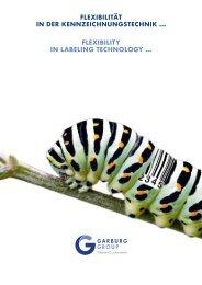 Image-Broschuere Garburg Etiketten Drucksysteme