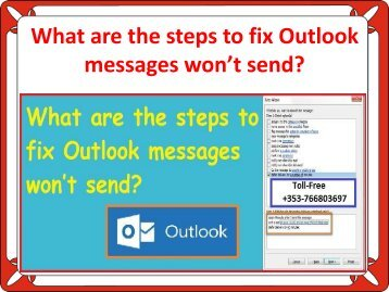 What are the steps to fix Outlook messages won't send?