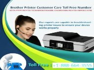 Brother printer is unable to print call the Brother Printer support phone number +1-888-664-3555