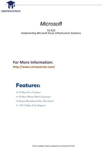 Microsoft 70-533 Dumps PDF - Updated 70-533 Certification Exam Questions 2018