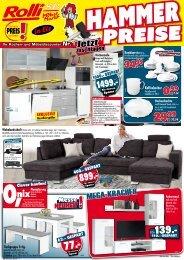 Hammer Preise! Jetzt zuschlagen - Rolli SB Möbelmarkt 65604 Elz/Limburg