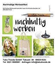 Nachhaltige Werbeartikel Ökologisch Bio und grüne Werbemittel