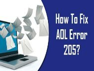 How to Fix AOL Error 205? Call 1-800-243-0019 for Help