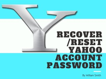 Recover Or Reset Yahoo Account Password