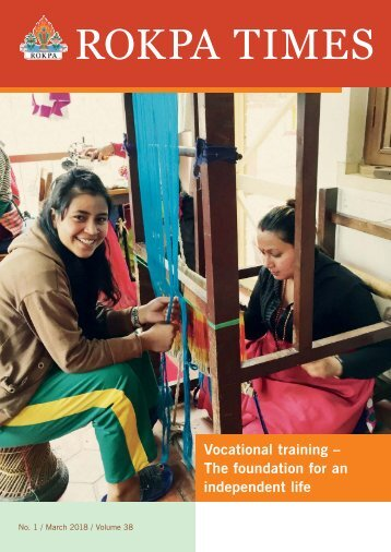 ROKPA Times March 2018 – Vocational Training