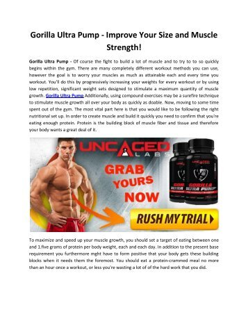 Gorilla Ultra Pump - Build Muscle, Burn Fat and Get Ripped Quickly & Easily!
