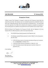 ASX RELEASE 27 January 2012 Prospectus Closes - CuDeco