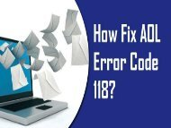 1-800-488-5392 Fix AOL Error Code 118