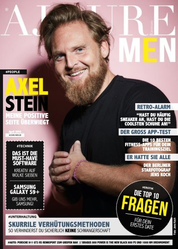 AJOURE´ Men Magazin April 2018