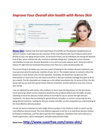 Remove Your unwanted Marks with Skin Renev Skin