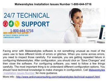 Malwarebytes Installation Issues Number 1-800-644-5716