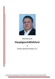 Qualifikationen zum Hauptgeschäftsführer LSBH