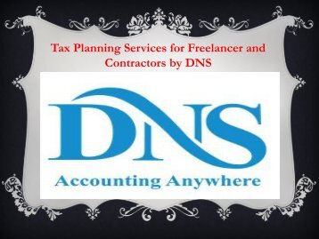 Tax Planning Services for Freelancer and Contractors by DNS