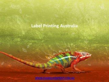 Label Printing Australia