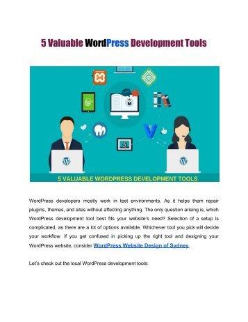 5 Valuable WordPress Development Tools