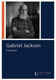 Gabriel Jackson Catalogue