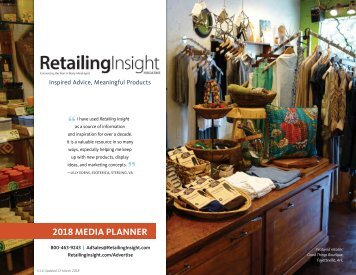 Retailing Insight Magazine Media Kit 2018