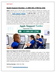 Call Our Toll-Free Apple Support Number +1-800-501-2708 for Solution