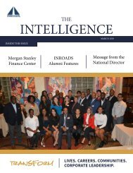 INROADS THE INTELLIGENCE - MARCH 2018 ISSUE