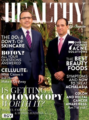 Healthy RGV Issue 112 - Is Getting A Colonoscopy Worth it?