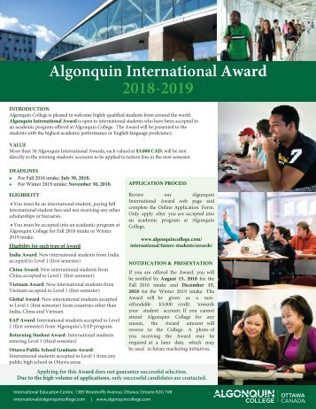 2018-2019-Algonquin International Award-2