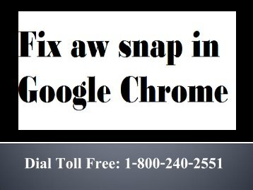 How to Fix aw snap in Google Chrome 18002402551