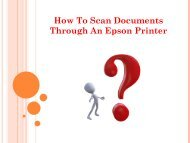 How To Scan Documents Through An Epson Printer?