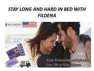 STAY LONG AND HARD IN BED WITH FILDENA