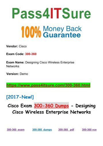[2018 New]  New Pass4itsure Cisco 300-360 Dumps PDF