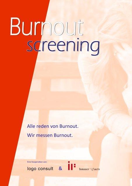 Burnout-Screening - Innauer und facts - logo consult