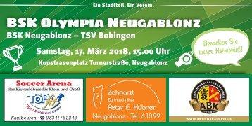 BSK Olympia Neugablonz gegen TSV Bobingen