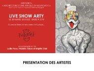 LIVE SHOW - Book des artistes