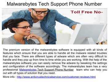 Malwarebytes Window Problem Phone Number.