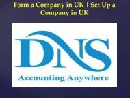 Form a Company in UK  Set Up a Company in UK