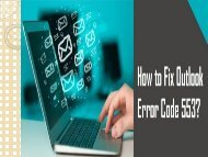 How to Fix Outlook Error Code 553? 1-800-361-7250 for Help
