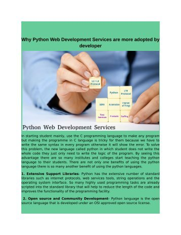 Why Python Web Development Services are more adopted by developer