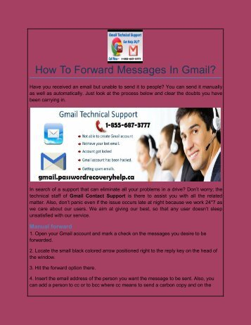 How To Forward Messages In Gmail