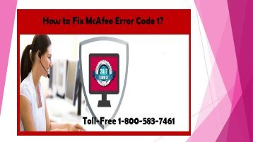 How to Fix McAfee Error Code 1 Call 1-800-583-7461 Toll-Free